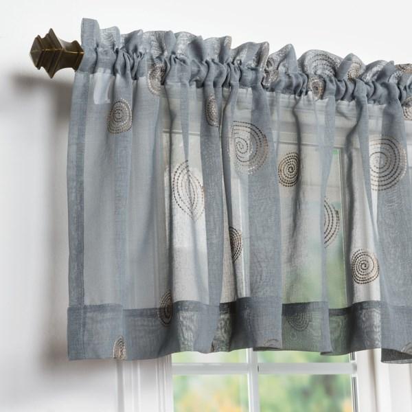 United Curtain Co. Sedona Embroidered Semi-sheer Valance - 54x18?, Rod-pocket Top