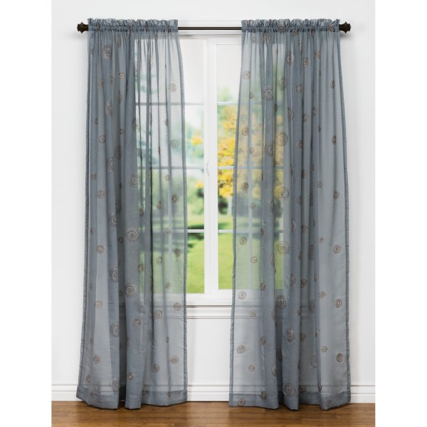 United Curtain Co. Sedona Embroidered Semi-sheer Curtains - 108x63?, Rod-pocket Top
