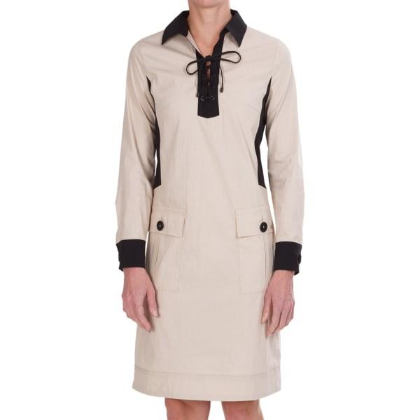 Bogner Leonella Stretch Cotton-Nylon Dress - Long Sleeve (For Women)