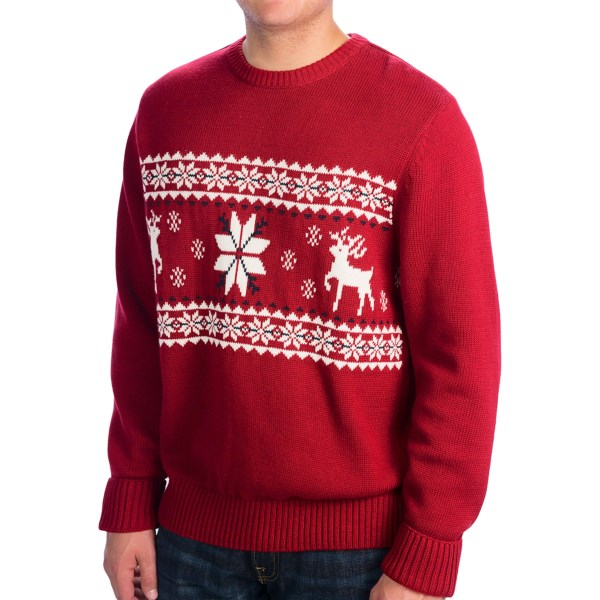 Dockers Cotton Reindeer And Snowflake Sweater (for Men)