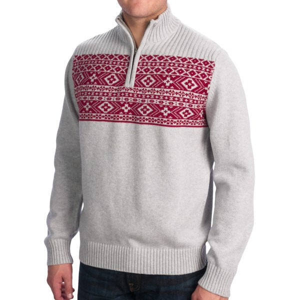 Dockers Holiday Cotton Sweater - Zip Neck (For Men)
