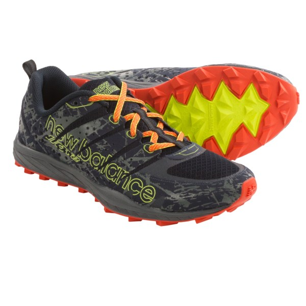 CLOSEOUTS . A low 4mm heel-to-toe offset and just the right amount of REVlite midsole cushioning makes New Balance 110v2 trail running shoes the perfect lightweight choice for attacking technical trails. Available Colors: GREY/ORANGE, BLUE/YELLOW. Sizes: 8, 8.5, 9, 9.5, 10, 10.5, 11, 11.5, 12, 12.5, 13, 14, 7, 7.5.