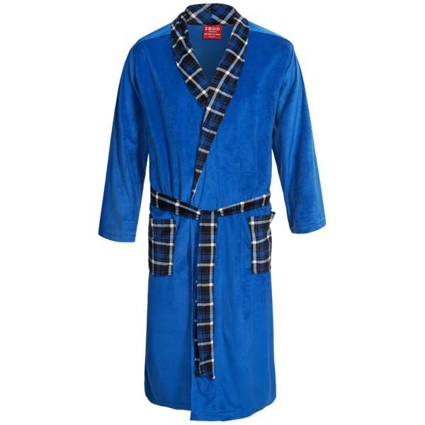 Izod Silky Fleece Robe - Long Sleeve (For Men)
