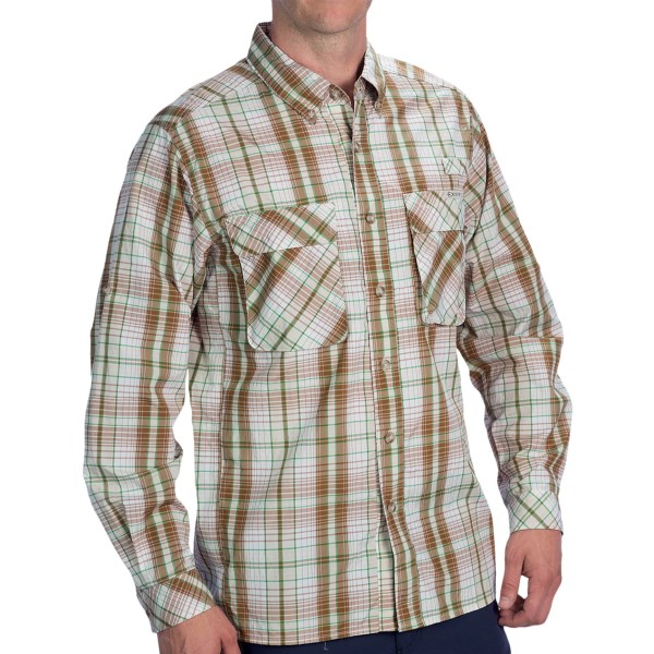 Exofficio Air Strip Macro Plaid Shirt - Upf 30 , Long Sleeve (for Men)