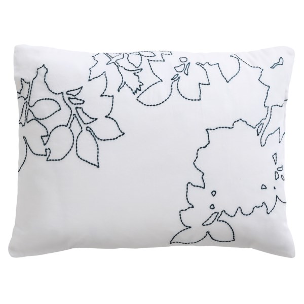 CLOSEOUTS . Designed to complement the deep indigo prints in Barbara Barryand#39;s Kimono duvet covers, this cotton sateen decor pillow reproduces shadowy outlines of those shapes. A beautiful way to dress your bed. Available Colors: INDIGO.