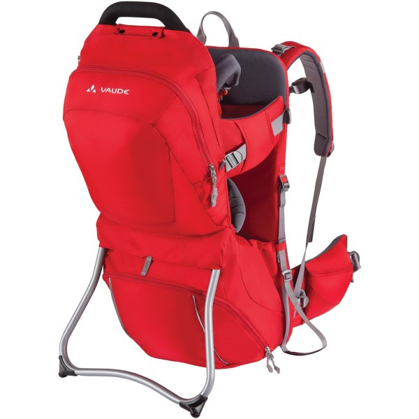 CLOSEOUTS . Vaudeand#39;s Shuttle Comfort child carrier is an exceptionally stable, full-featured carrier that grows with your child. The Shuttle Comfort carries kids up to 40 lb. and features a well-padded Tergolight suspension system and a load minimizing waistbelt. Available Colors: BLACK, MARINE, RED.