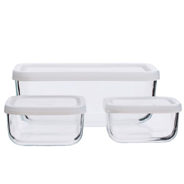 Bormioli Rocco Glass Food Storage Container Set - 3-piece