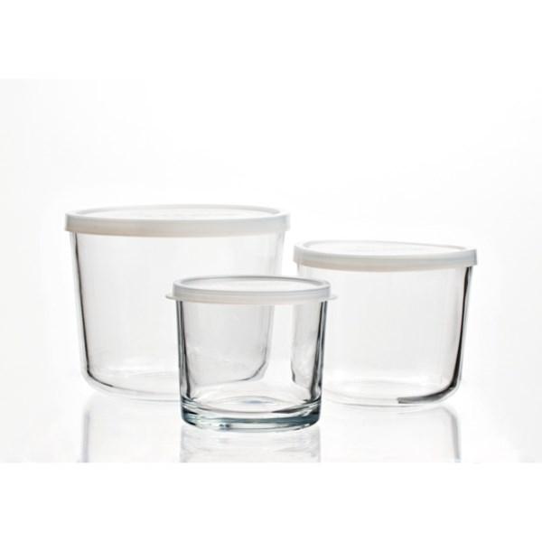 Bormioli Rocco Round Glass Food Storage Container Set - 3-piece