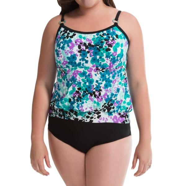 It Figures Sunny Delight Blouson Swimsuit (For Plus Size Women)
