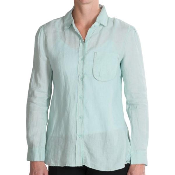 dylan Hemp Crochet Trim Shirt - Long Sleeve (For Women)