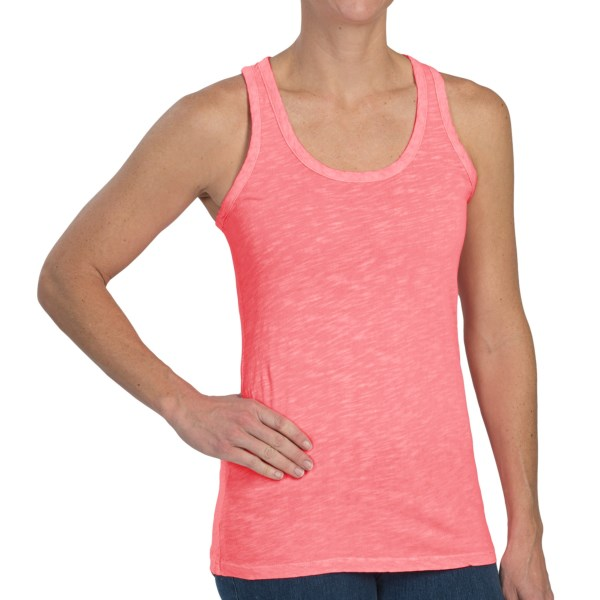 dylan Vintage Slub Basic Tank Top - Slub Cotton, Racerback (For Women)