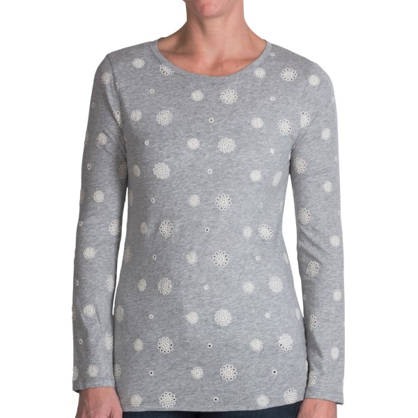 dylan Eyelet T-Shirt - Long Sleeve (For Women)