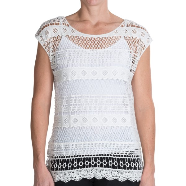 dylan Mesa Crochet Shirt - Sleeveless (For Women)