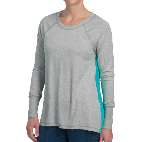 dylan Heather Jersey Pullover - Contrast Back Panel , Long Sleeve (For Women)
