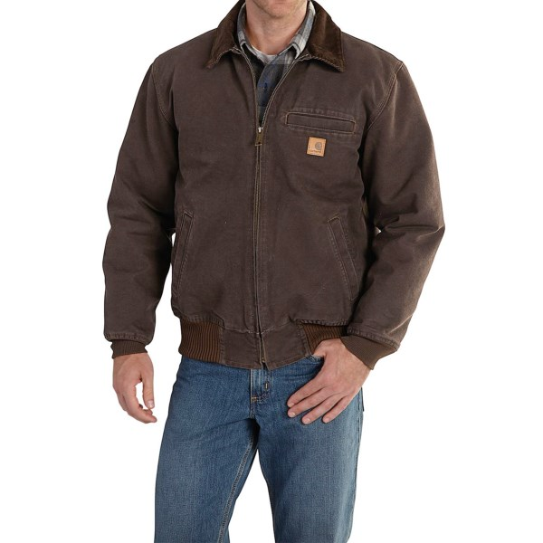 2NDS . Carharttand#39;s Bankston jacket tackles cold-weather chores and work days with a rugged cotton sandstone duck shell and warm quilted flannel lining. Available Colors: LIGHT BROWN, BLACK, COTTONWOOD, DARK BROWN. Sizes: S, M, L, XL, 2XL.