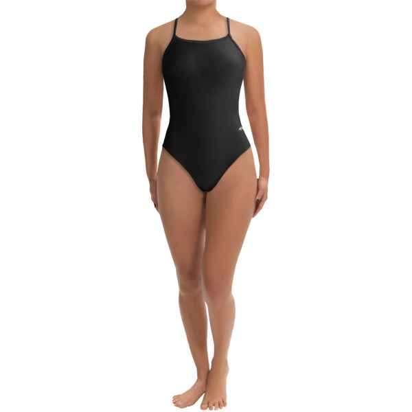 CLOSEOUTS . Dolfinand#39;s Team Solid competition swimsuit is made of long-lasting, chlorine-resistant XtraLife Lycraand#174; to last you through multiple meets without fading or sagging. Available Colors: RED, NAVY, BLACK, MAROON. Sizes: 22, 24, 26, 28, 30, 32, 34, 36, 38, 40.