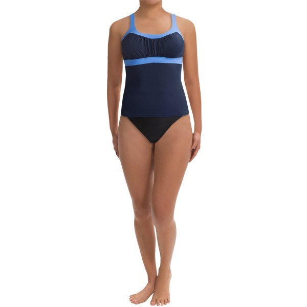 CLOSEOUTS . Make some summer memories in Miraclesuitand#39;s Banded tankini, featuring a smoothing control panel that gives you the confidence to really chase after all the fun. Available Colors: BLACK/BLUE. Sizes: 8, 10, 12, 14, 16, 18.