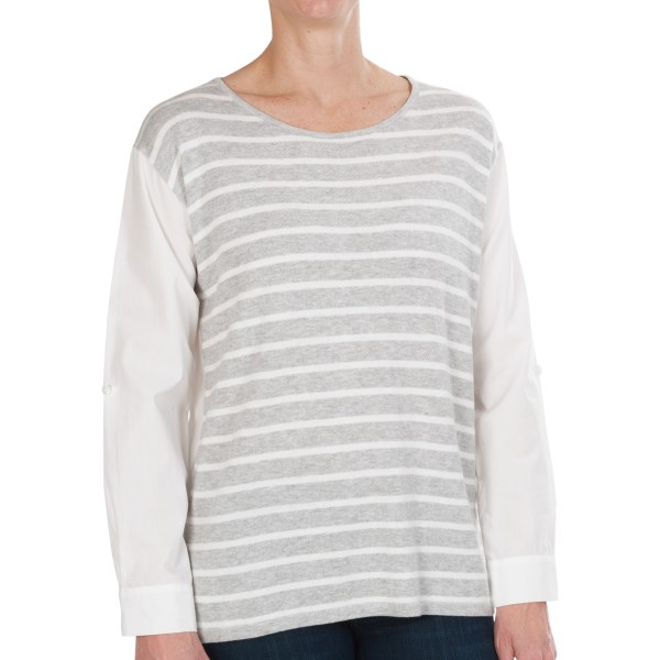 August Silk Hi-low Sweater (for Women)