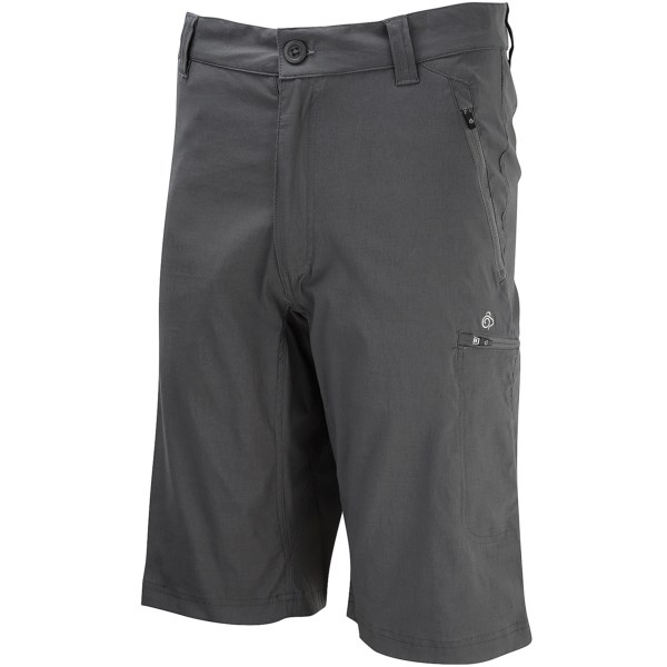 CLOSEOUTS . Craghoppers Kiwi Pro shorts give you extra coverage and stretchy comfort for taking on the great outdoors. The durable stretch nylon has a DWR finish and UPF 40  sun protection. Available Colors: WINDSOR BLUE, GRANITE, ELEPHANT.