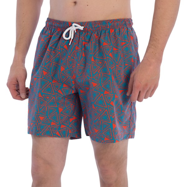 CLOSEOUTS . Hanging ten in the surf or hanging out on the sand, youand#39;ll be styling up the warm-weather hot spots in the fast-drying, supersoft San O Print swim trunks from Trunks Surf andamp; Swim Co. Available Colors: CARIBBEAN/BLACK, CARIBBEAN/TIGERFIRE, STINGRAY/MIDNIGHT, NAVY SKY/KELLY TECH, NAVY/MIDNIGHT BLUE, NAVY/CHERRY. Sizes: S, M, L, XL, 2XL.