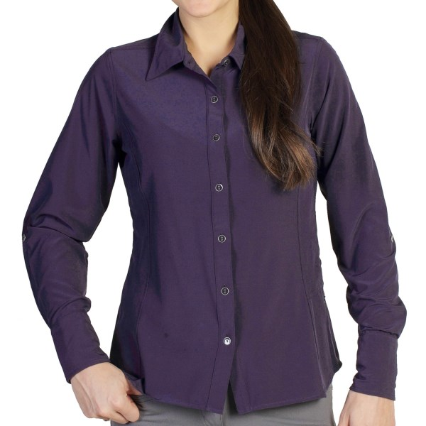 CLOSEOUTS . Made of lightweight, wrinkle-resistant, quick-drying and moisture-wicking fabric, ExOfficioand#39;s Kizmet Jetsetter shirt keeps you feeling and looking fresh for those long, exciting days of travel. Available Colors: ANTIQUE, NOCTURNAL. Sizes: XS, S, M, L, XL.