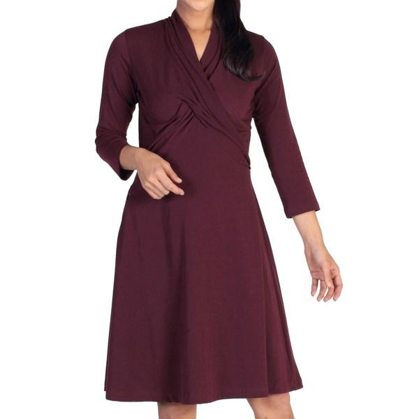 Exofficio Go-to Crossover Dress - 3/4 Sleeve (for Women)