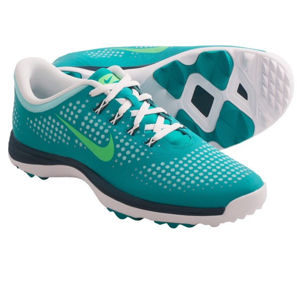 CLOSEOUTS . On the golf course or just on a roll, Nikeand#39;s Lunar Empress golf shoes give your feet the royal treatment with soft, resilient cushioning, support where itand#39;s needed most and excellent outsole traction. The no-sew upper minimizes overlays and enhances strength. Available Colors: TURBO GREEN/LIGHT LUCID GREEN, VIOLET SHADE/POLARIZED BLUE, LASER CRIMSON/RED VIOLET. Sizes: 5, 5.5, 6, 6.5, 7, 7.5, 8, 8.5, 9, 9.5, 10, 10.5, 11.