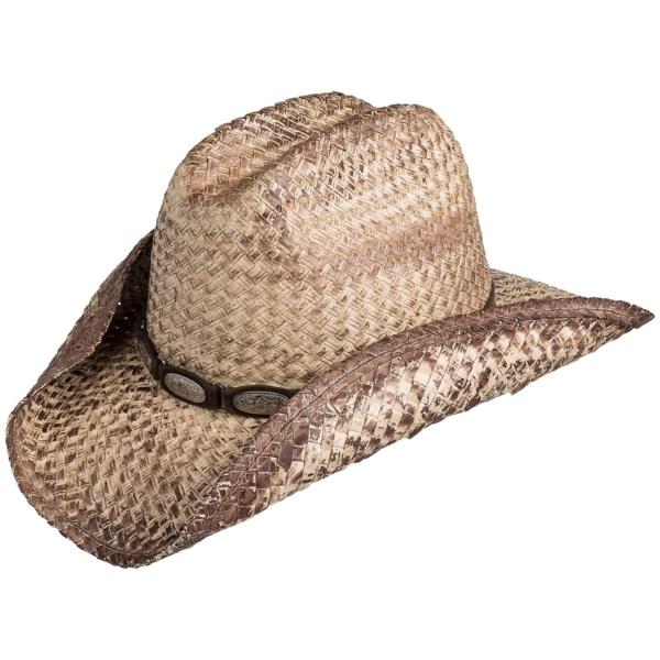 Scala Buri Straw Cowboy Hat (For Men and Women)