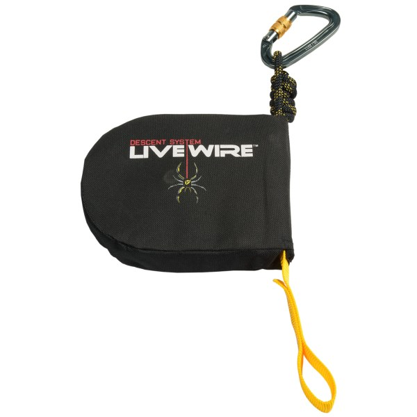 CLOSEOUTS . Designed to be used in conjunction with a Tree Spider harness or other certified safety harness, Tree Spider's Livewire tree stand self-arrest system can provide a hands-free descent in the event of an accidental fall from a tree stand, up to 25 feet. Available Colors: SEE PHOTO. Sizes: 115/225, 225/300, 115/200, 200/300.