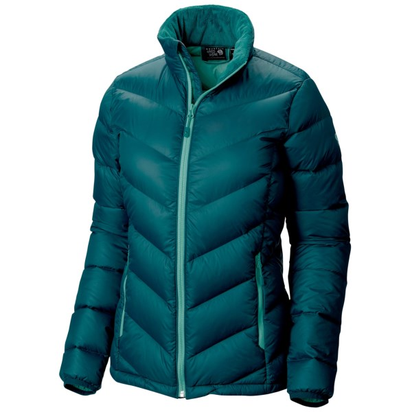 CLOSEOUTS . Weathering sub-zero conditions is a breeze in Mountain Hardwearand#39;s Ratio jacket, which features advanced Q.Shieldand#174; down insulation that resists warmth-robbing moisture and retains maximum loft, even when wet. Available Colors: BLUE FOREST, ARISTOCRAT, BRIGHT ROSE. Sizes: XS, S, M, L, XL.