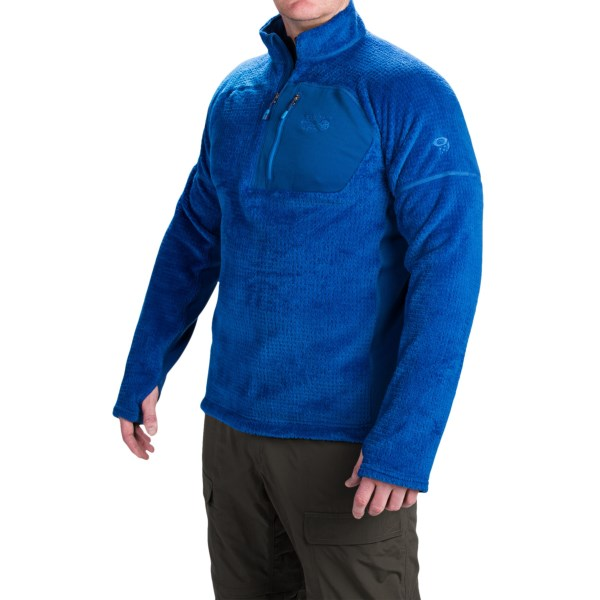 Mountain Hardwear Monkey Man Grid Pullover - Zip Neck, Long Sleeve (for Men)