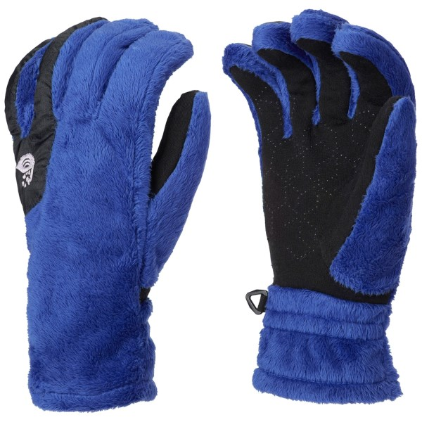 CLOSEOUTS . Mountain Hardwear Pyxis fleece gloves keep your hands toasty and feature a proprietary polymer in the palm so you can operate your touch-screen device without removing your gloves. Available Colors: GRAPHITE, NECTAR BLUE. Sizes: S, M, L, XS, XL.