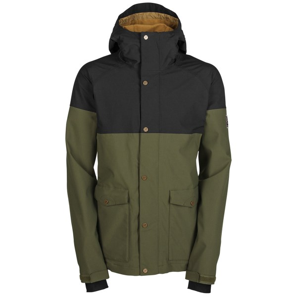 CLOSEOUTS . Waterproof breathable protection and progressive style meet in a vintage anorak design with Bonfireand#39;s Tanner Cascade Gold jacket. Available Colors: BUNKER, CADET, BLACK. Sizes: XS, S, M, L, XL, 2XL.