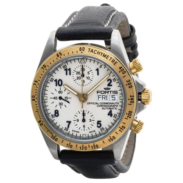 Fortis Official Cosmonauts Swiss Automatic Watch 18K Gold Tachymeter (For Men)