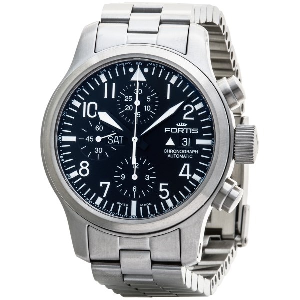 Fortis Flieger B 42 Automatic Chronograph Watch (For Men)