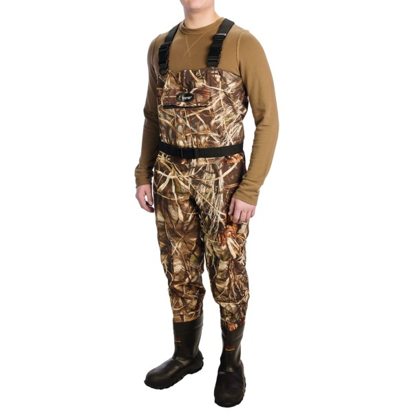 Frogg Toggs Hellbender Camo Breathable Chest Waders - Bootfoot, 1200g Thinsulate(R) (For Men)