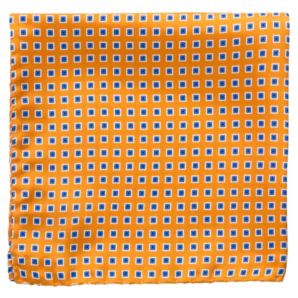 Altea Geometric Pocket Square - Silk (For Men)