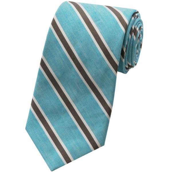 Altea Stripe Tie - Cotton-linen Blend (for Men)