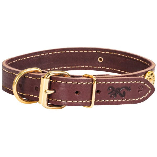 "CLOSEOUTS . Browningand#39;s Shotshell leather dog collar reminds you and your favorite hunting companion of days in the field. Available Colors: BROWN. Sizes: 17"", 19"", 21"", 23""."