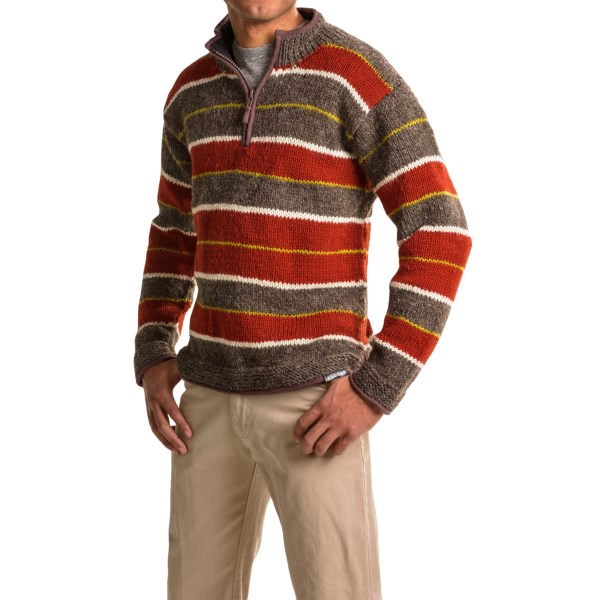 Laundromat Rugby Sweater - Wool, Zip Neck (For Men)