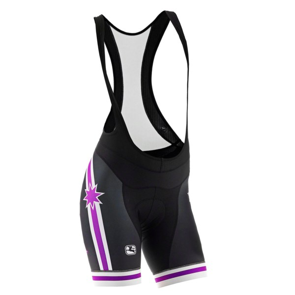 CLOSEOUTS . A performance bib for the dedicated rider, Pinarello by Giordana Stars FR-C Trade bib shorts are made in Italy of a combination of performance fabrics including 200g Zaffiro power Lycraand#174;. The Cirro OmniForm chamois is aloe vera-infused for supreme comfort. Available Colors: BLACK/TITANIUM, BLACK/PURPLE/WHITE. Sizes: S, M, L, XL.