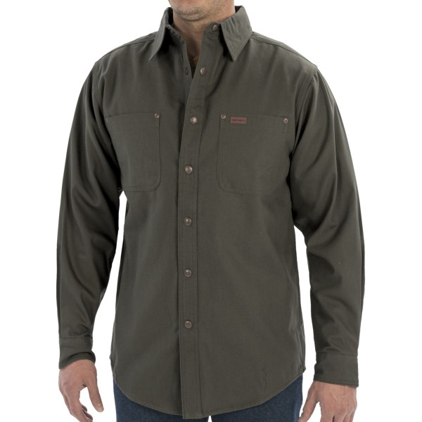 Carhartt canvas shirt jacket flannel lined for men for 9 oz flannel shirt