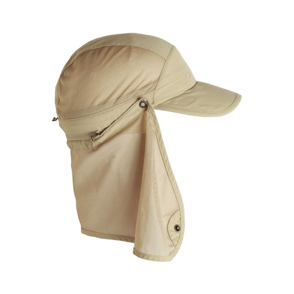 CLOSEOUTS . Featuring a breathable, zip-off mesh cape and built-in Insect Shieldand#174; repellent, ExOfficioand#39;s Bugsawayand#174; hat is a must-have item for outdoor ventures in buggy territory. Available Colors: 8020 LIGHT KHAKI. Sizes: S/M, L/XL.