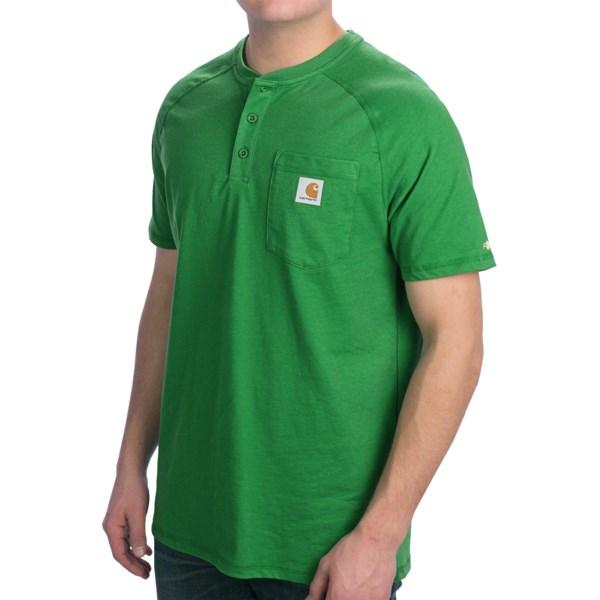 Carhartt Force Henley Shirt - Short Sleeve (For Men)