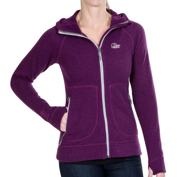 CLOSEOUTS . Great for layering or wearing solo, Lowe Alpineand#39;s Gemini hoodie doubles up on comfort with luxuriously soft, breathable and toasty Aleutianand#174; fleece and a contoured hood. Available Colors: GRANITE, GRAPEJUICE, LAGOON, ROSEHIP. Sizes: 8, 10, 12, 14, 16.