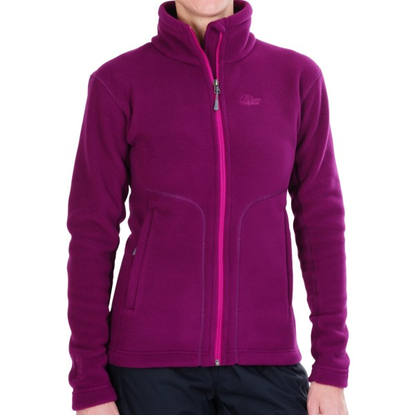 CLOSEOUTS . Warm, breathable, supersoft and quick-drying Aleutianand#174; 200 fleece makes this Lowe Alpine jacket an all-star choice for weathering chilly winter and autumn conditions. Available Colors: DARK PEACOCK, GRANITE, PLUM WINE, ROSEHIP. Sizes: 8, 10, 12, 14, 16.