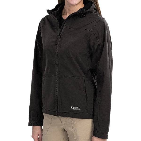 CLOSEOUTS . Red Ledgeand#39;s Gauntlet soft shell jacket is a great value in a waterproof soft shell, with fully seam-sealed construction and a warm brushed backing. Available Colors: FIELD GREEN, OBSIDIAN, NEW SKY, SHIRAZ. Sizes: XS, S, M, L, XL.
