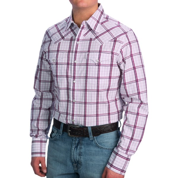 Stetson Box Plaid Western Shirt - Snap Front, Long Sleeve (for Men)
