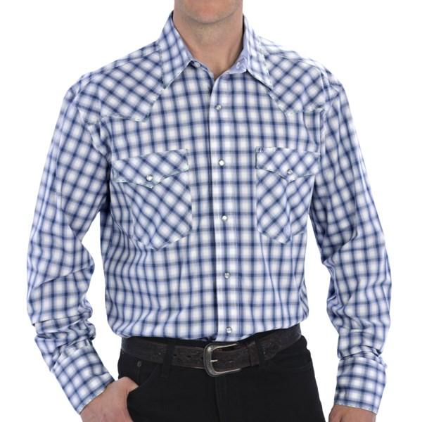 Roper Amarillo Sea Glass Check Shirt - Long Sleeve (For Tall Men)