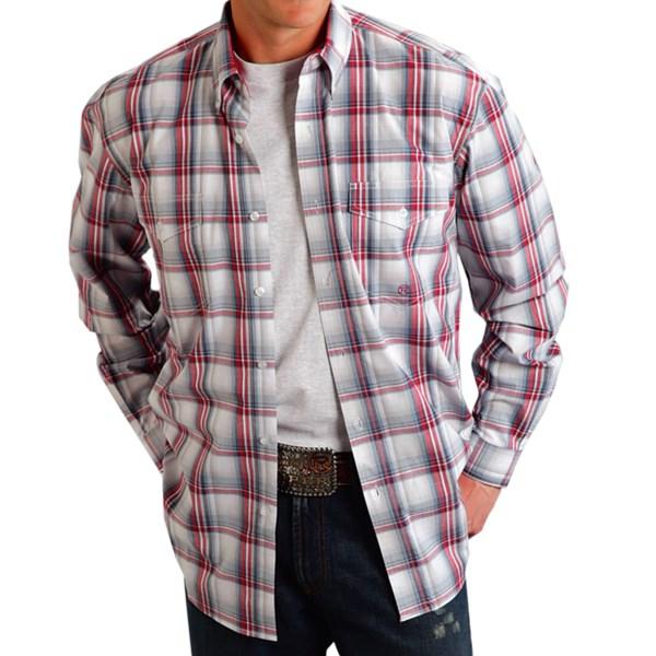 Roper Amarillo Plaid Shirt - Long Sleeve (For Tall Men)